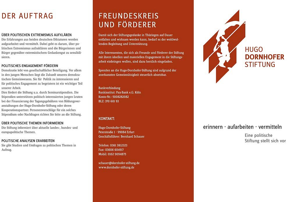 Hugo Dornhofer Stiftung / Folder / 2008.