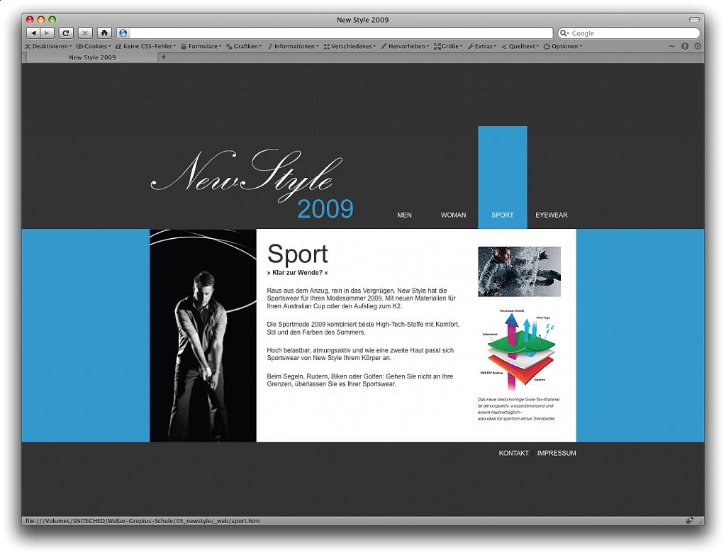 """NewStyle"" / Webdesign / 2008."
