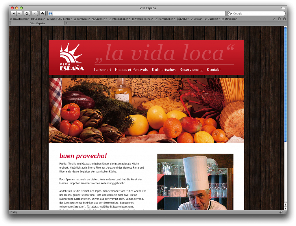 """Viva Espana"" / Website / 2010."