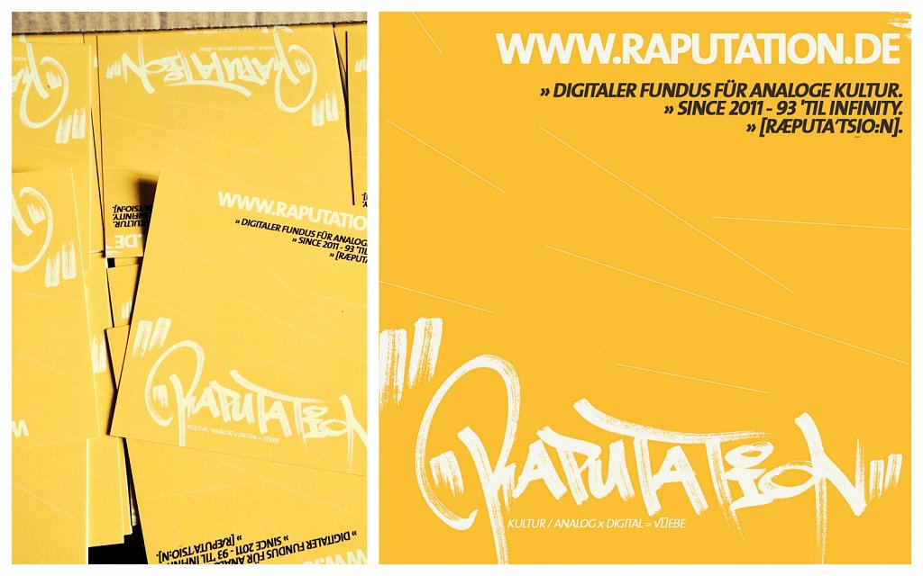 raputation.de ∞ kultur / analog X digital = √liebe. / Sticker / 2014.
